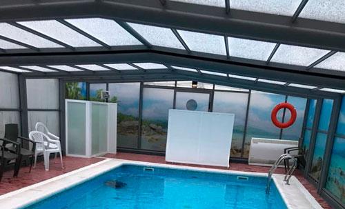 piscina cubierta laminada climatizada