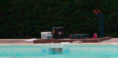 equipo de filtración en piscina rehabilitada