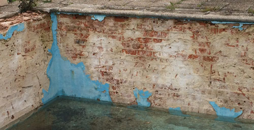 rehabilitación de piscina con 40 años de antigüedad
