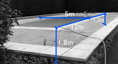 piscina rehabilitada en lámina armada