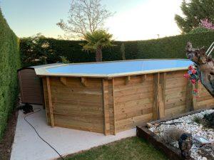 piscinas sobreelevada en madera