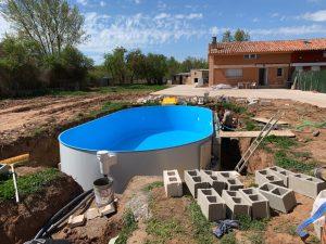 piscina enterrada en chapa