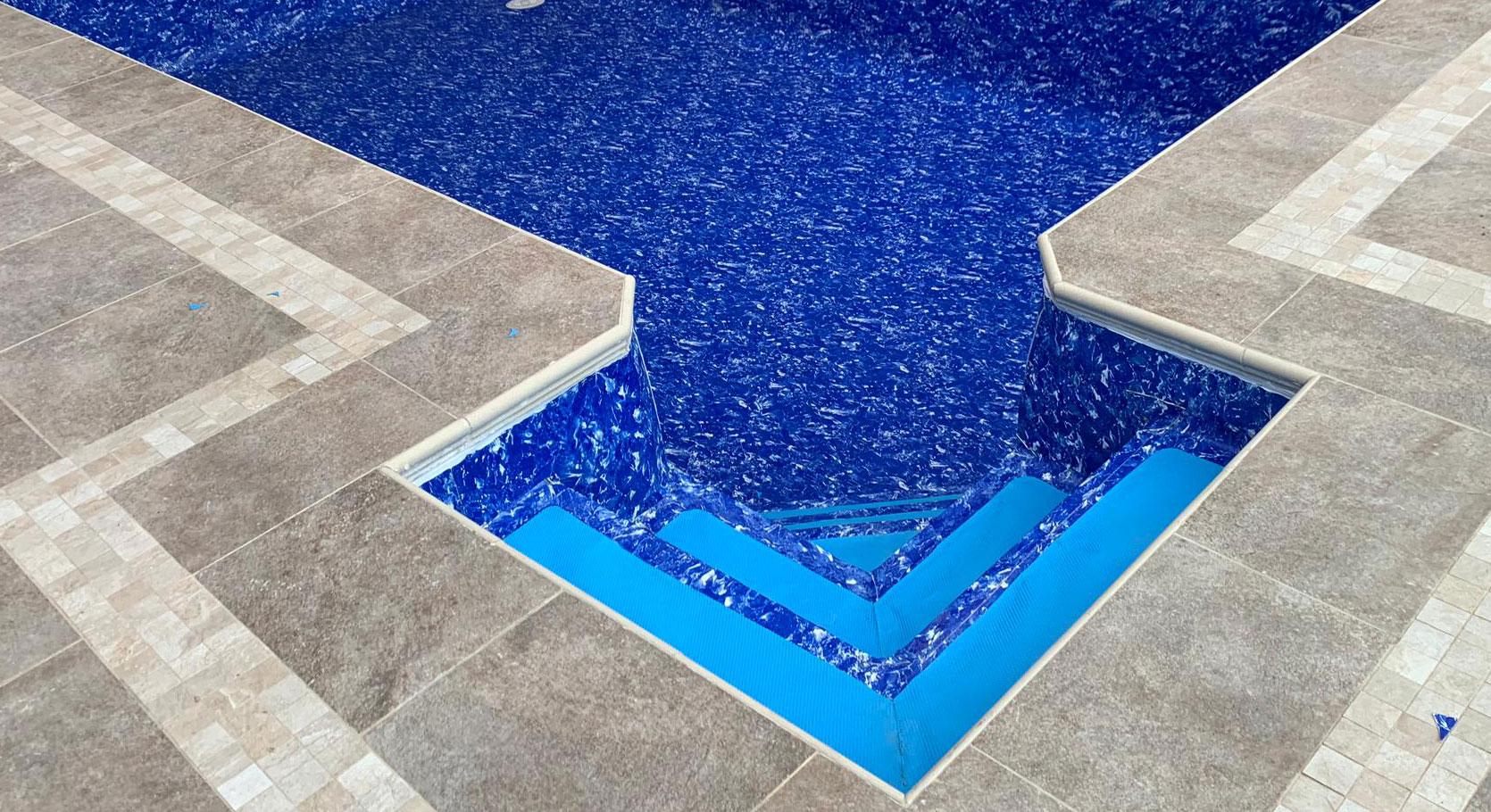 esquina de piscina